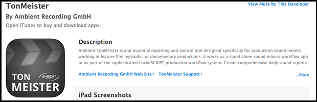 TonMeister app available on the iTunes Store – LockitNetwork